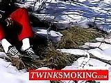 amateur, cock, jerking, masturbation, smoking, soloboy, wanking